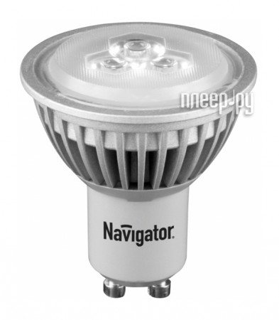 Лампочка Navigator NLL-PAR16-3-230-3K-GU10 (теплый, 3000К)  Pleer.ru  92.000