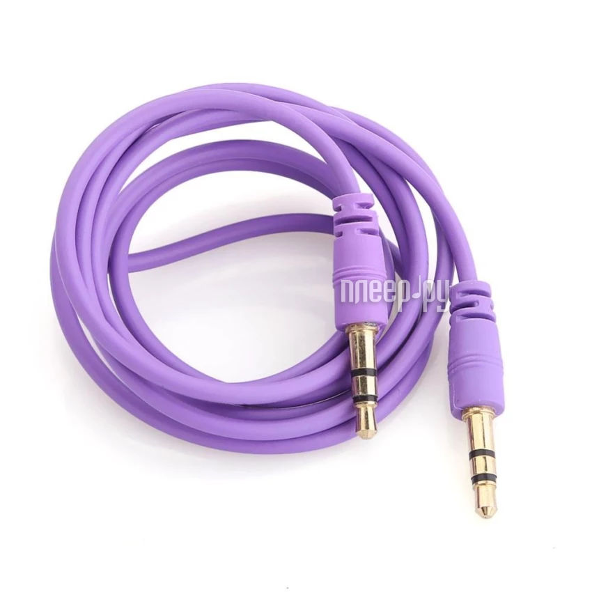 Аксессуар Krutoff AUX Jack 3.5mm 1m Purple