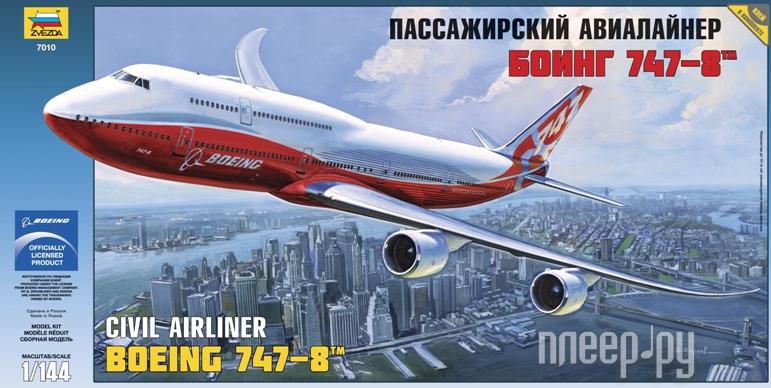 Сборная модель Zvezda Пассажирский авиалайнер Боинг 747-8 7010 купить