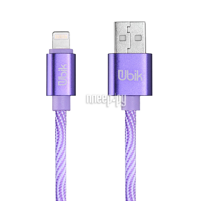 Аксессуар Ubik UL08 USB - Lightning Purple