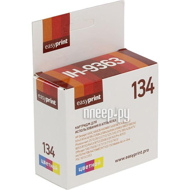 Картридж EasyPrint IH-9363 №134 для HP Deskjet 460 / 5743 / 5943 / 6543 / 6943 / 6983 / 9803 / Photosmart 2613 / 2713 / 325 / 335 / 375 / 385 / 428 / 475 / 8053 / 8753