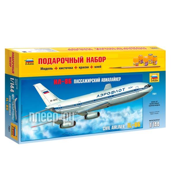 Сборная модель Zvezda Пассажирский авиалайнер Ил-86 7001П