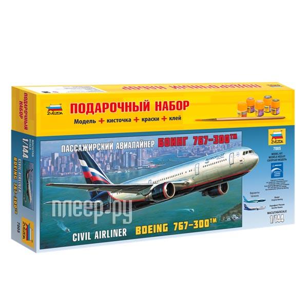 Сборная модель Zvezda Пассажирский авиалайнер Боинг 767-300 7005П