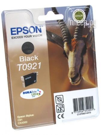 Картридж Epson T0921 C13T10814A10 Black  Pleer.ru  408.000