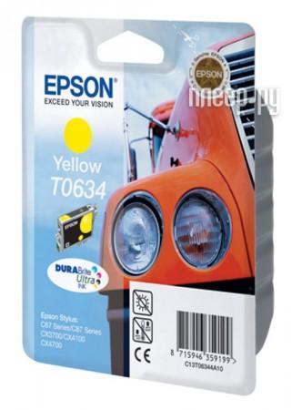 Картридж Epson T0634 C13T06344A10 C13T06344A Yellow  Pleer.ru  287.000