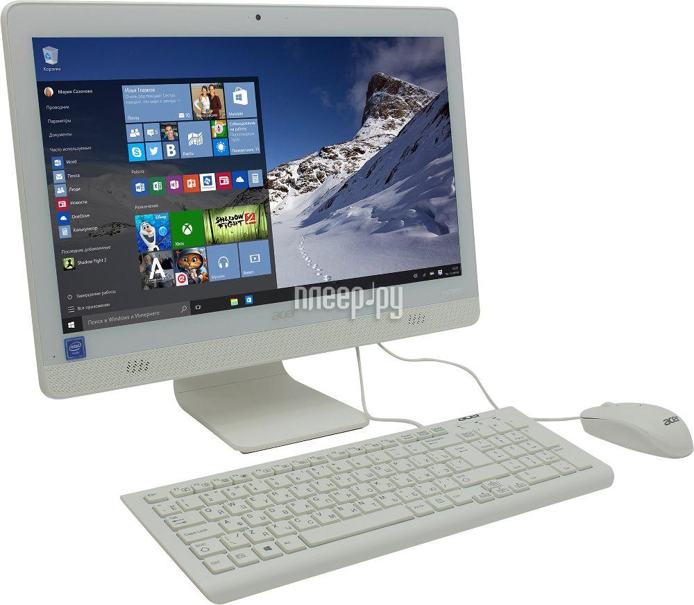 Моноблок Acer C20-720 Black DQ.B6XER.005 (Intel Celeron J3060 1.67 GHz / 4096Mb / 500Gb / DVD-RW / Intel HD Graphics / Wi-Fi / Bluetooth / Cam / 19.5 / 1600x900 / Windows 10)