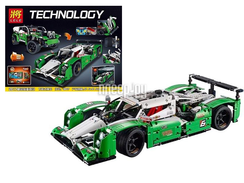 Конструктор Lele Technology Гоночный Авто + Джип 1249 дет. 38017