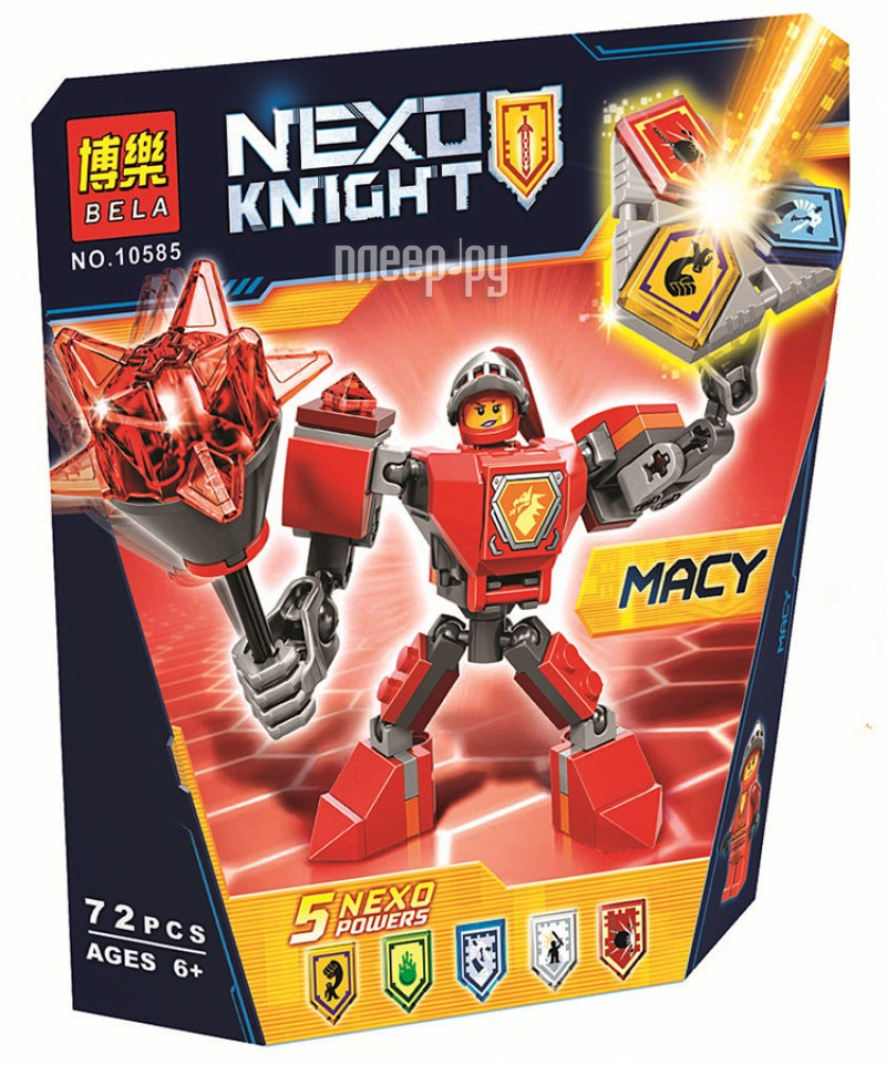 Конструктор Bela Nexo Knights Боевые Доспехи Мэйси 72 дет. 10585 за 194 рублей