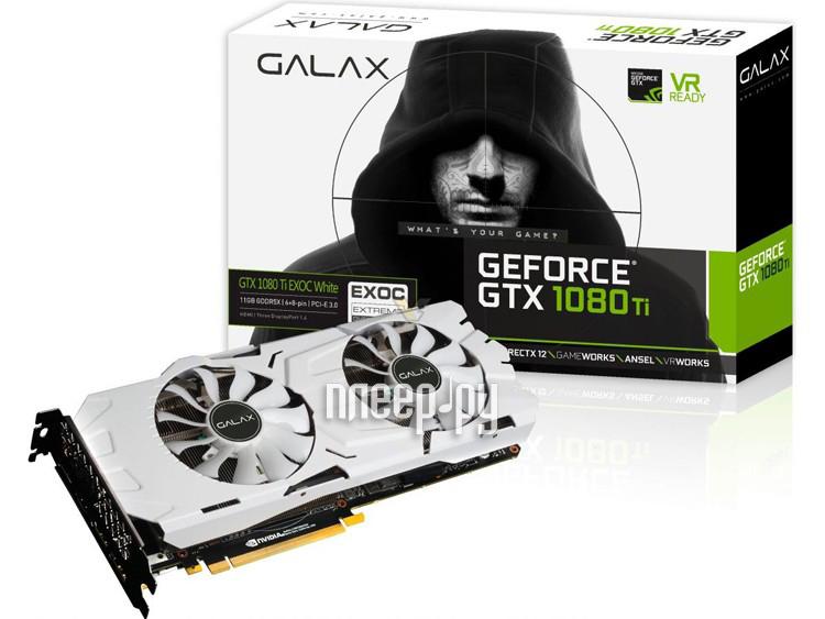 Видеокарта KFA2 GeForce GTX 1080 Ti EX OC 1531Mhz PCI-E 3.0 11264Mb 11000Mhz 352 bit DVI HDMI HDCP White 80IUJBMDQ0EK 7126432