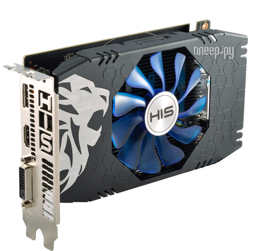 Видеокарта HIS RX 560 1149Mhz PCI-E 3.0 4096Mb 7000Mhz 128 bit DVI HDMI DP HS-560R4SCNR