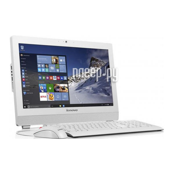 Моноблок Lenovo S200z 10K1000GRU White (Intel Celeron J3060 1.6 GHz / 2048Mb / 500Gb / No ODD / Intel HD Graphics / Wi-Fi / Bluetooth / Cam / 19.5 / 1600x900 / DOS)