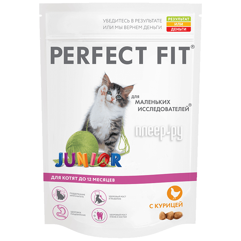 Корм Perfect Fit Курица 650g 10162218 / 10150085 / 10155960 для котят