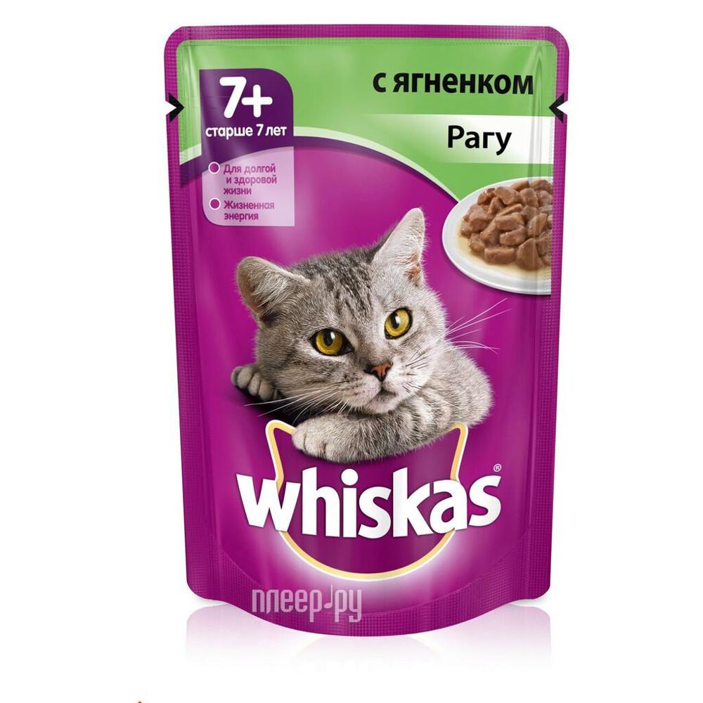 Корм Whiskas Пауч Рагу ягненок 85g для кошек старше 7 лет 10156215 / 10117335 / YP869