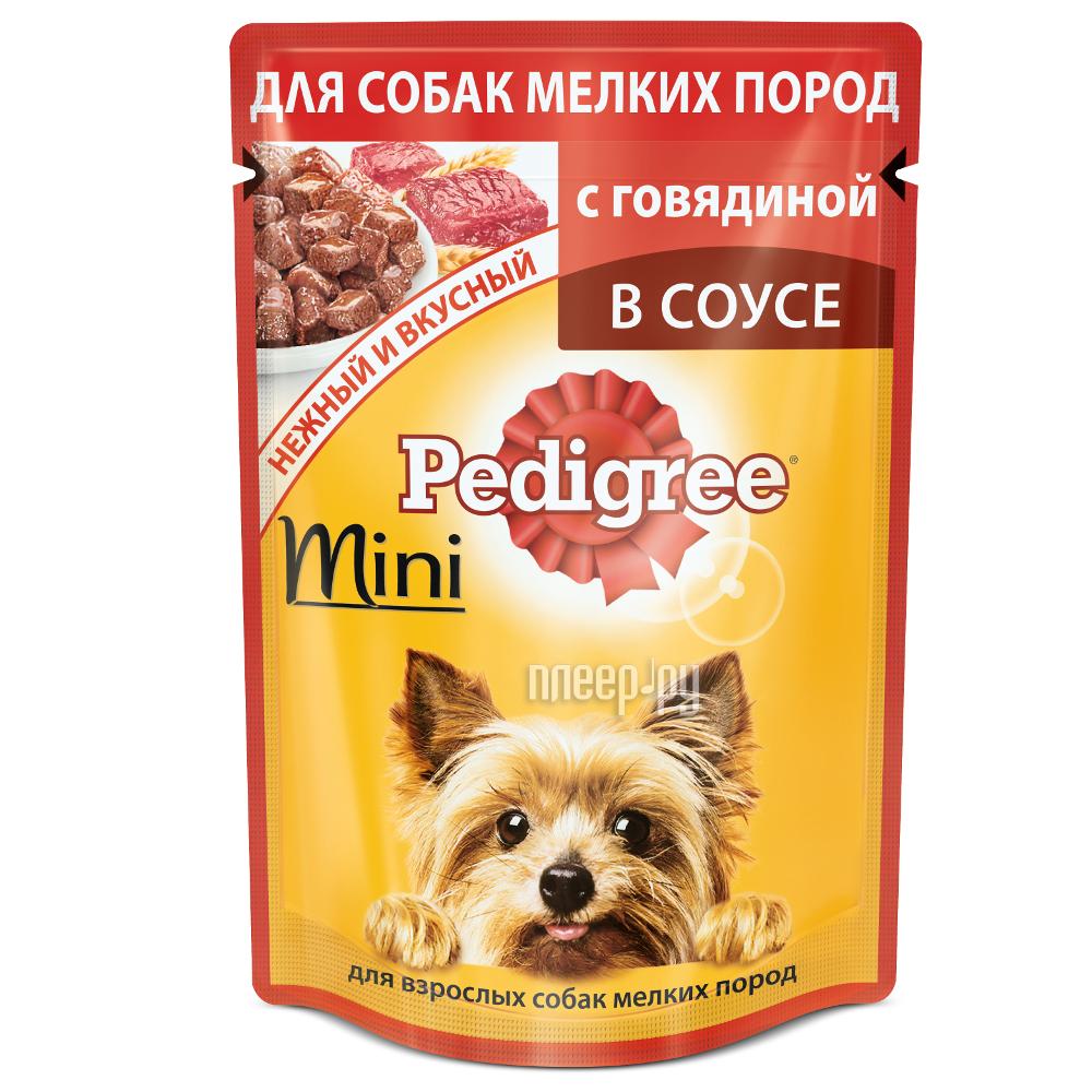 Корм Pedigree Пауч Говядина 85g для взрослых собак мини пород 10163974 купить