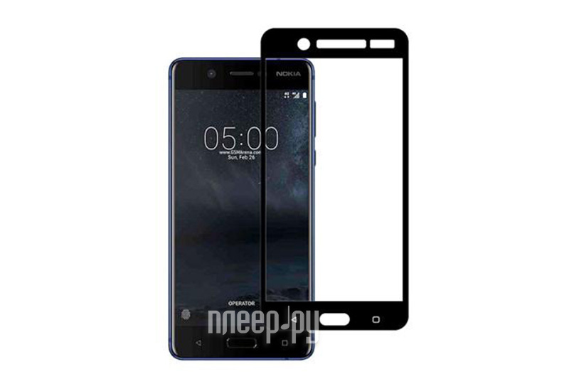 Аксессуар Защитное стекло Nokia 5 Svekla Full Screen Black ZS-SVNO5-BL купить