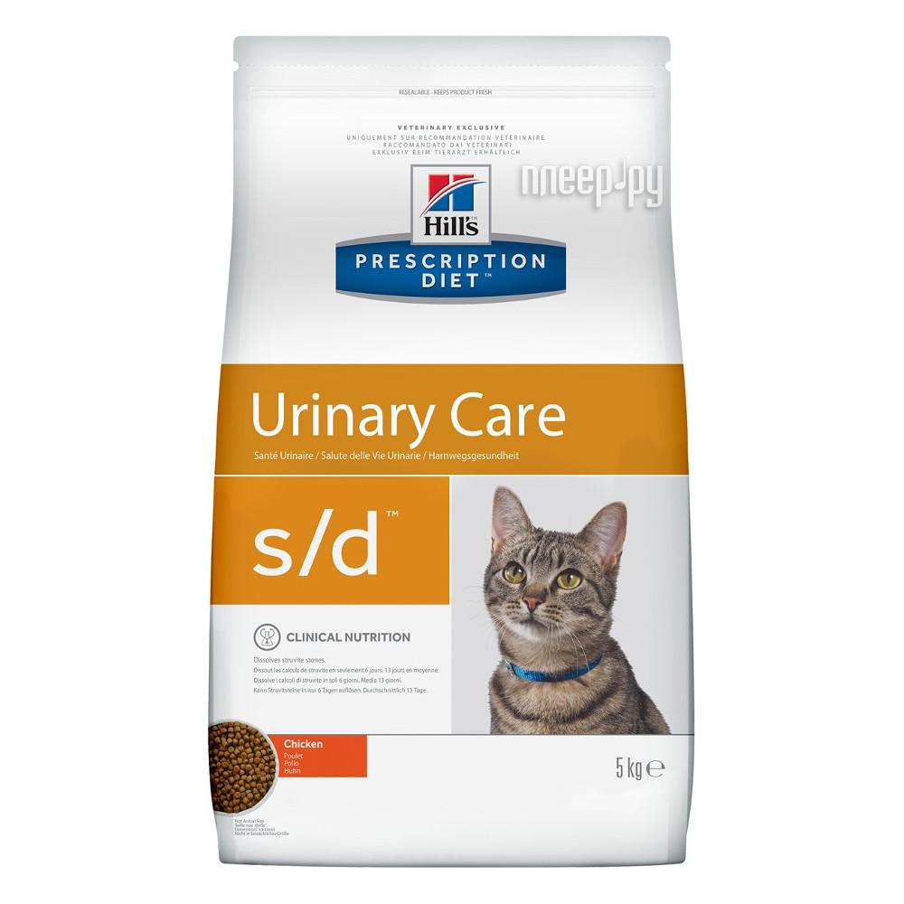 Корм Hills S / D Полноценный Диетический рацион при МКБ 5kg для кошек 4322