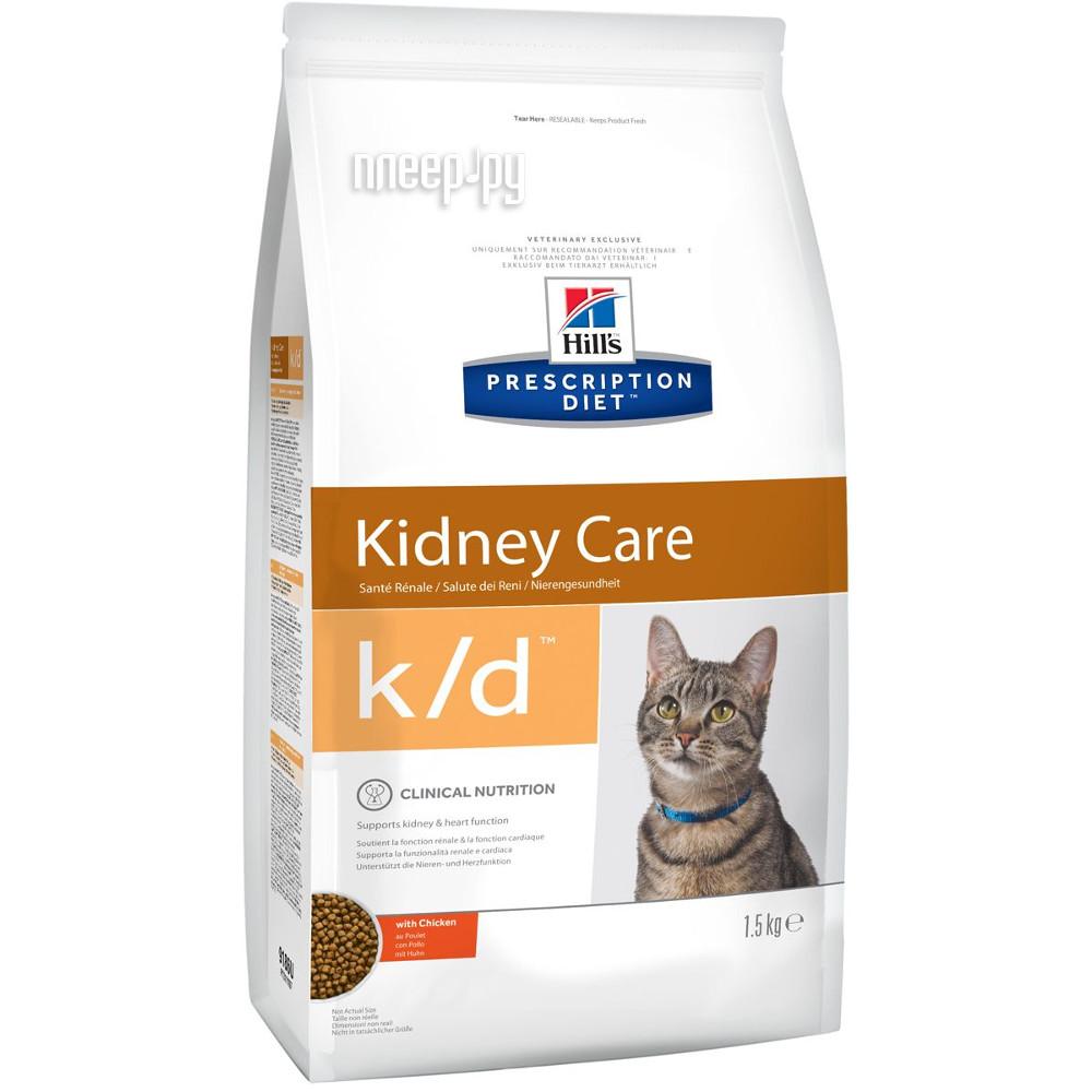 Корм Hills K / D Полноценный Диетический рацион при заболеваний почек МКБ 1.5kg для кошек 9186