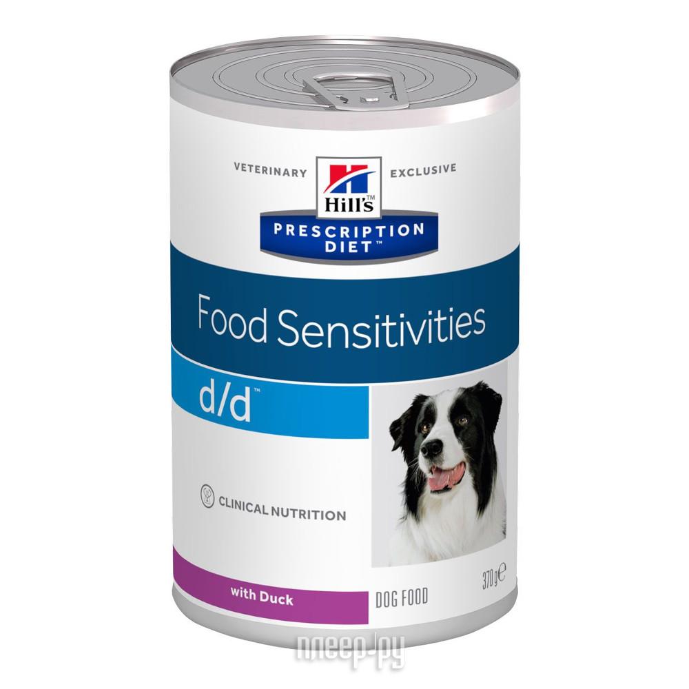 Корм Hills D / D Утка Полноценный Диетический рацион при пищевых аллергиях 370g для собак 8003