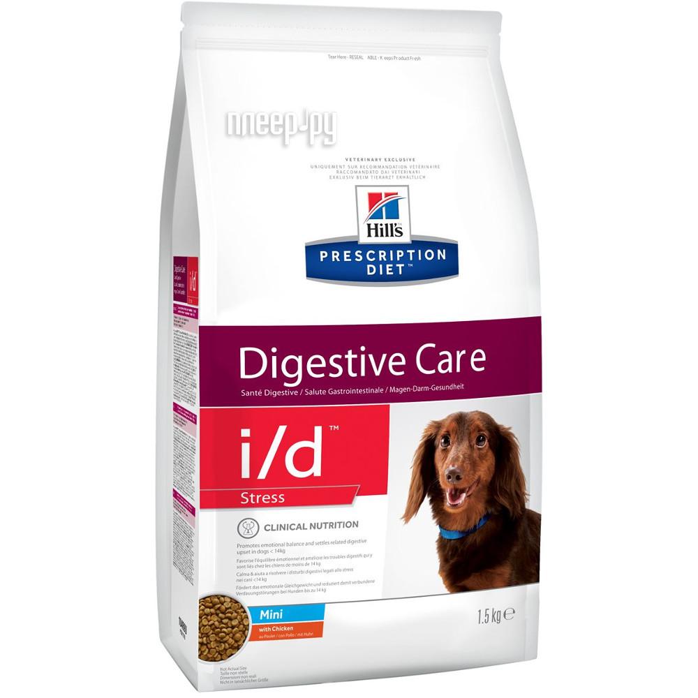 Корм Hills I / D Полноценный Диетический рацион ЖКТ + Стресс Mini 1.5kg для собак 10469