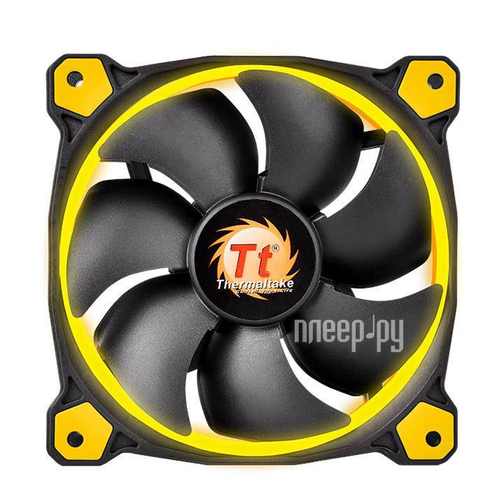 Вентилятор Thermaltake Riing 14 LED 140mm + LNC Yellow CL-F039-PL14YL-A