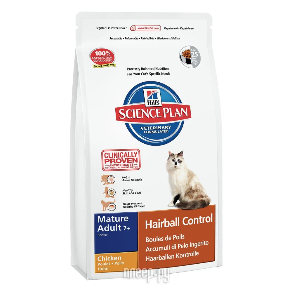 Корм Hills Хаербол контрол выведение шерсти из желудка 1.5kg для пожилых кошек 7610