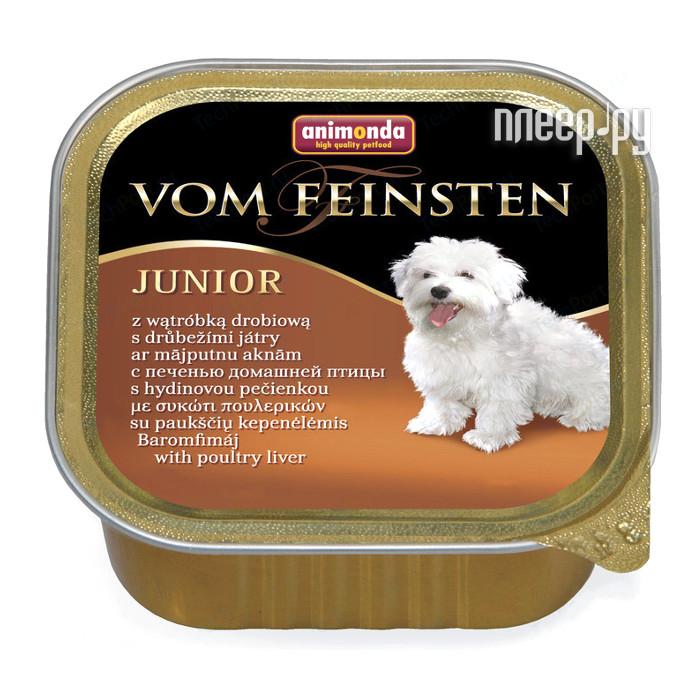 Корм Animonda Vom Feinsten Junior Домашняя птица / Печень 150g для щенков 82976