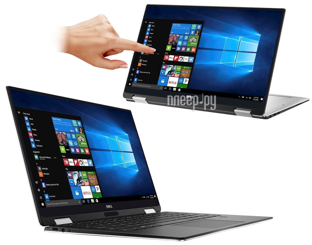 Ноутбук Dell XPS 13 9365-0949 (Intel Core i7-7Y75 3.6 GHz / 16384Mb / 512Gb SSD / No ODD / Intel HD Graphics / Wi-Fi / Bluetooth / Cam / 13.3 / 3200x1800 / Touchscreen / Windows 10 Pro 64-bit)