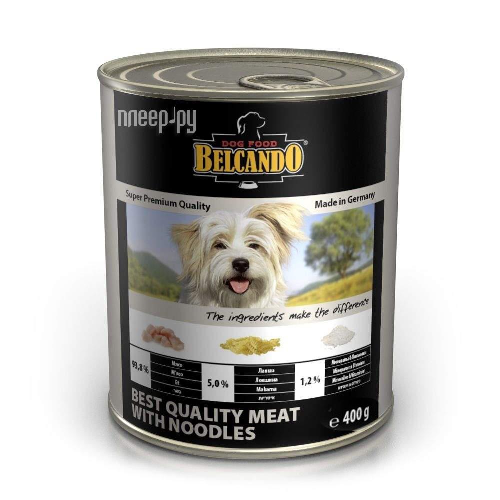 Корм BelcandO Мясо с лапшой 400g для собак 512512-512515