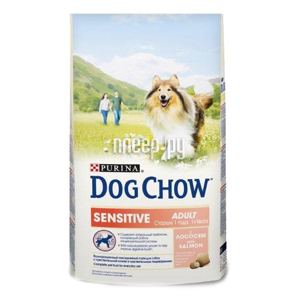 Корм Dog Chow Sensitive Лосось Рис 2.5kg для собак 12308768