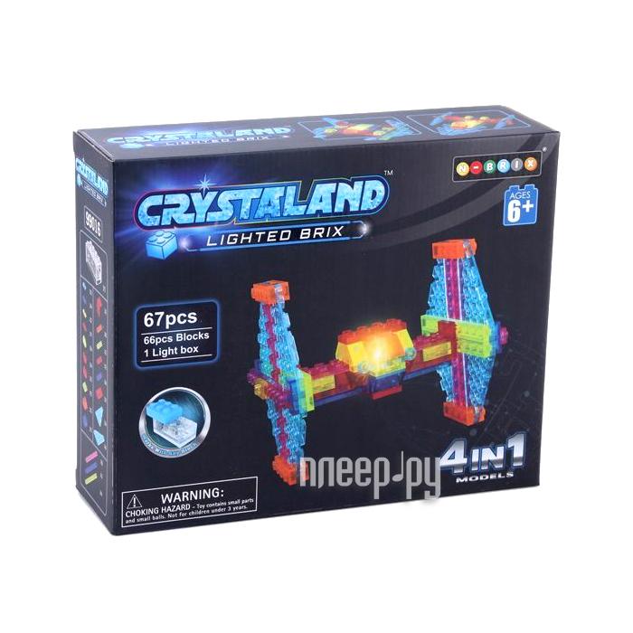 Конструктор Crystaland SHG006 Истребитель 4 в 1 67 дет