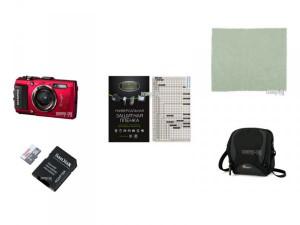 Купить Фотоаппарат Olympus Stylus Tough TG-4 Red Выгодный набор + подарок серт. 200Р!!
