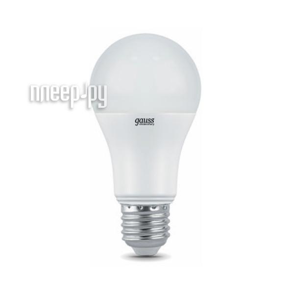 Лампочка Gauss Elementary A60 20W E27 6500K 23239