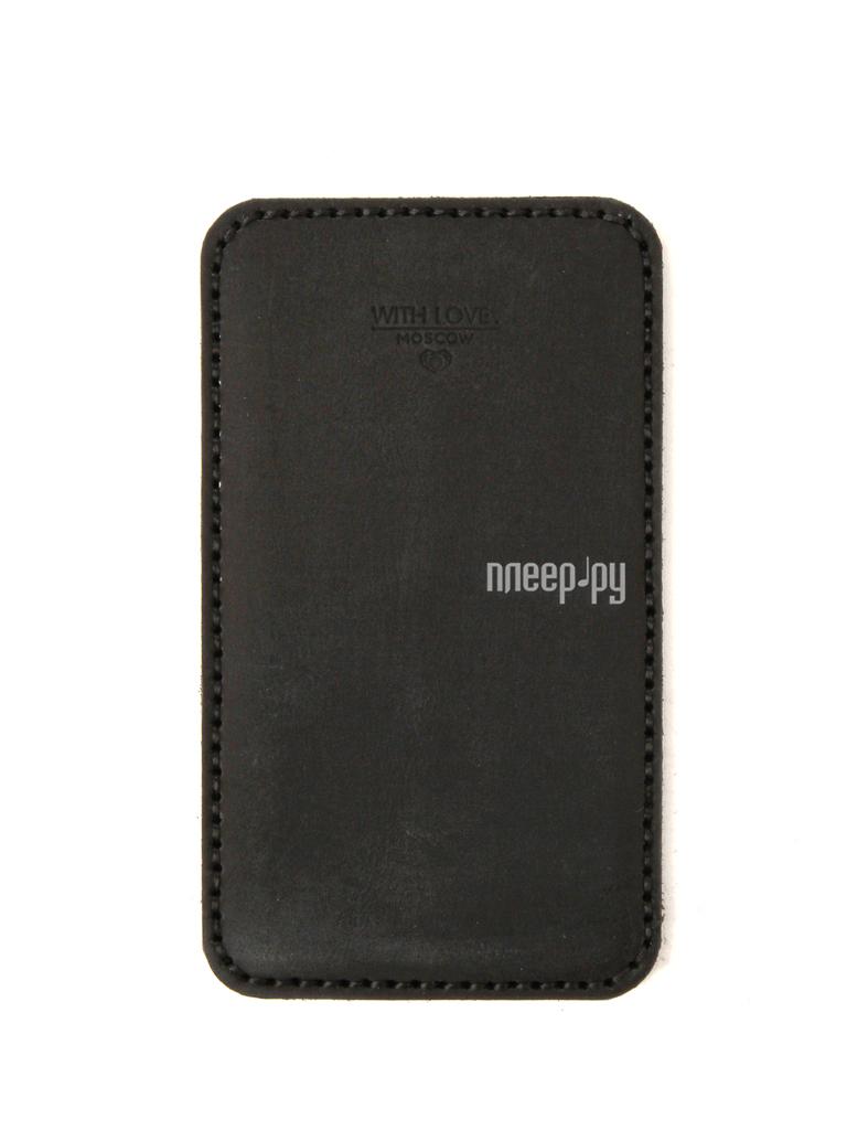 Аксессуар Чехол Huawei P10 Lite With Love. Moscow кожаный Black 10229