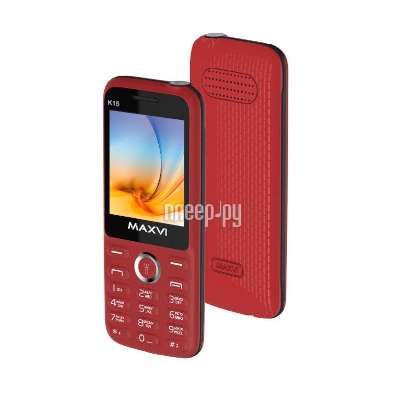 Сотовый телефон Maxvi K15 Red