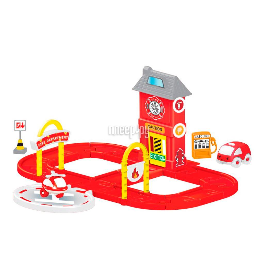 Автотрек Dolu Пожарная станция с круговой дорогой DL-5150