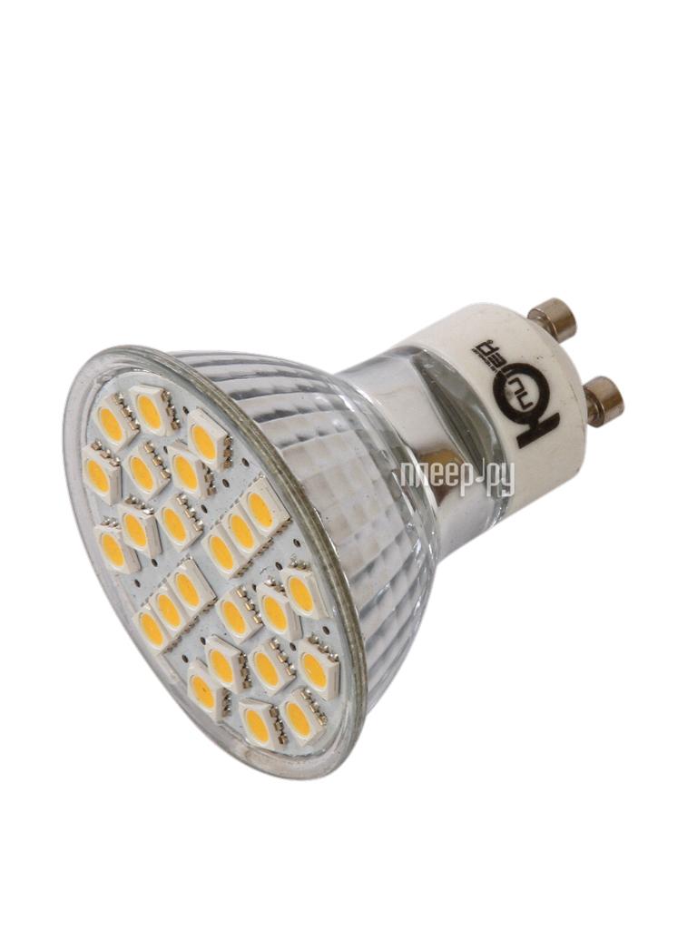Лампочка Юпитер Dimm GU10 3W AC220-240V 380 Lm Warm White GU10-DI24S5