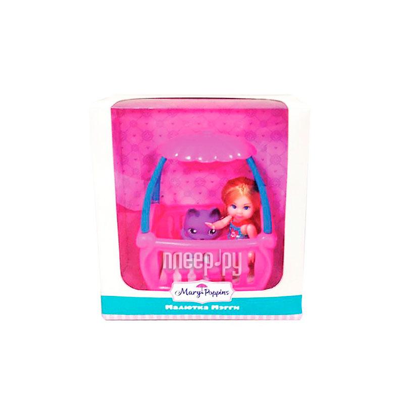 Кукла Mary Poppins Кукла Мегги с кроваткой 451178