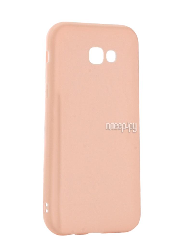 Аксессуар Чехол Samsung Galaxy A7 2017 Neypo Soft Matte Silicone Light Pink NST2903 за 534 рублей