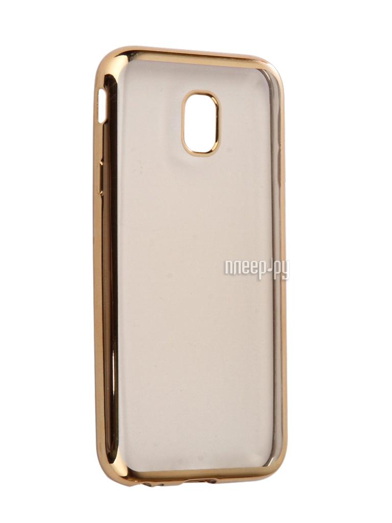 Аксессуар Чехол Samsung Galaxy J3 2017 Neypo Silicone Aura Gold Metallic NSTA2311