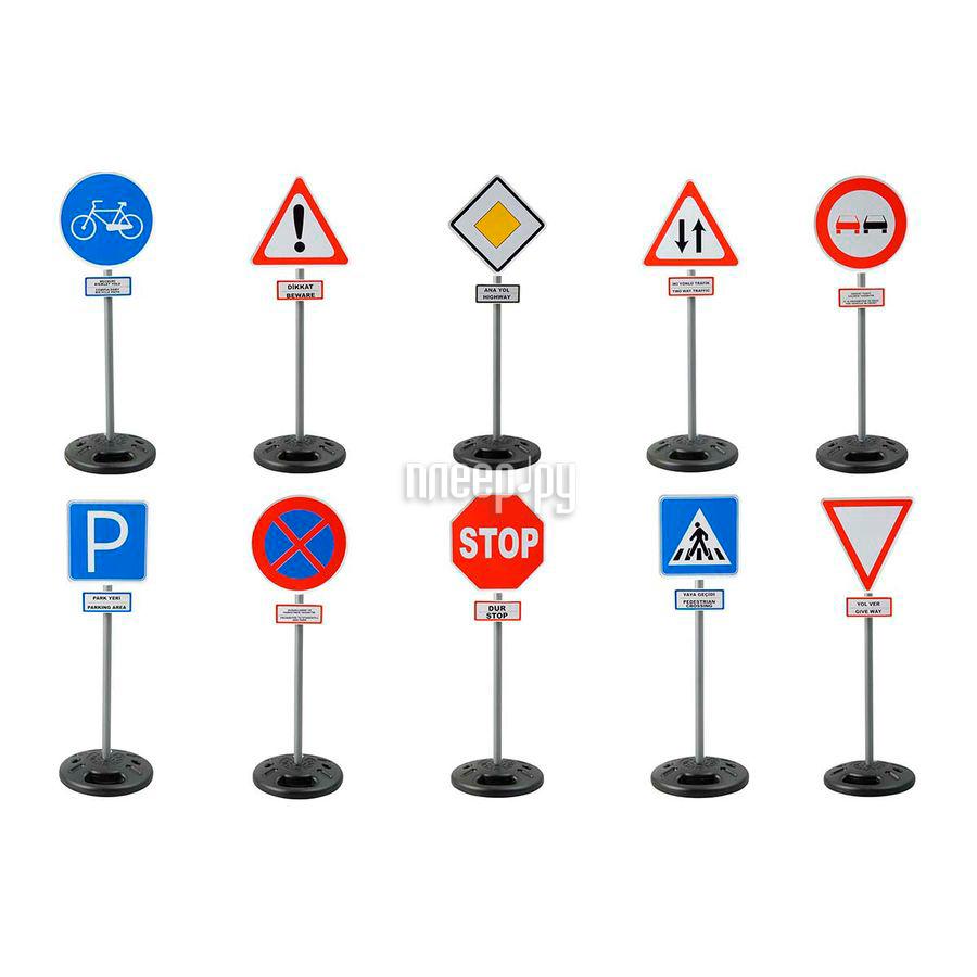 Машина Pilsan Дорожные знаки на стойке 03-415