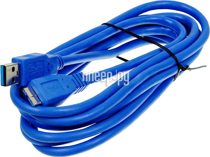 Аксессуар Ningbo USB - USB 3m Blue USB3.0-MicroA-B-3mBR