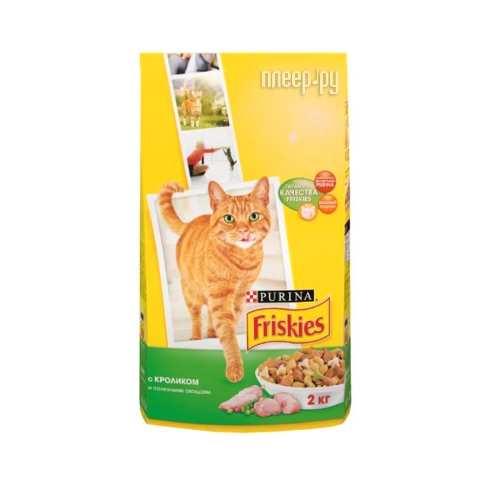 Корм Friskies Adult Кролик с полезными овощами 2kg для кошек 12053625