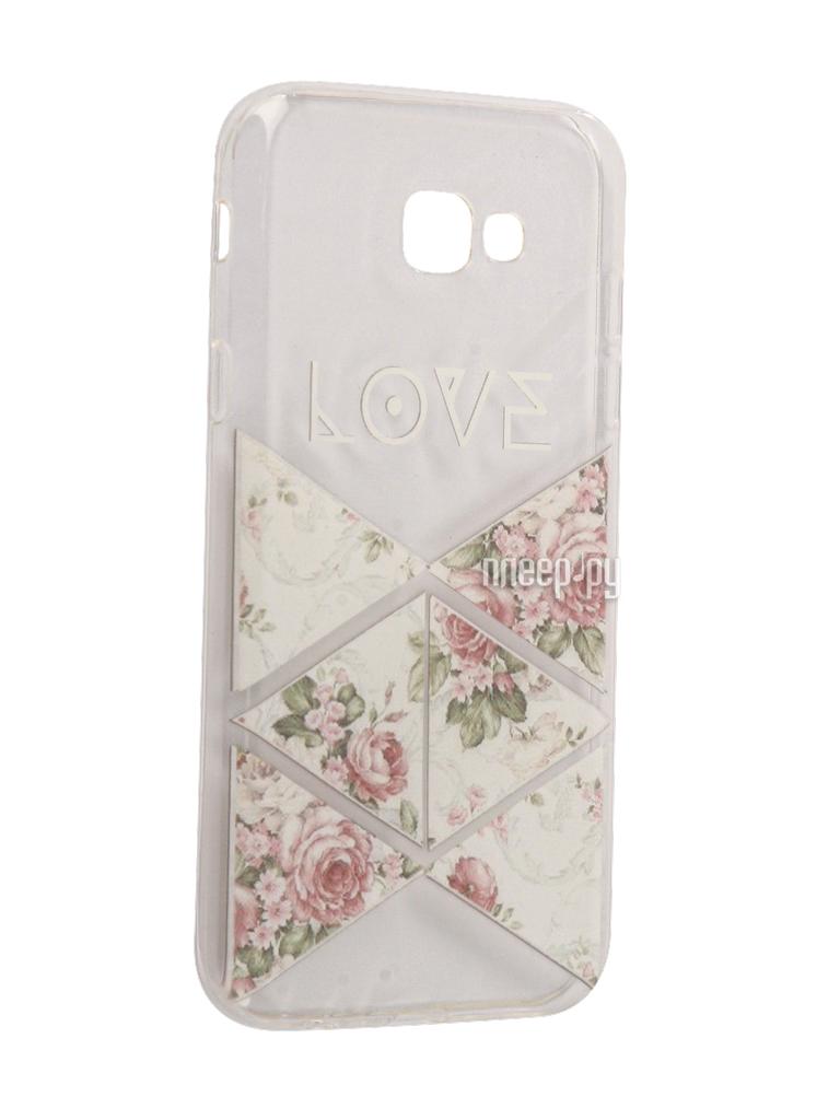 Аксессуар Чехол Samsung Galaxy A7 2017 With Love. Moscow Silicone Love 2 5063