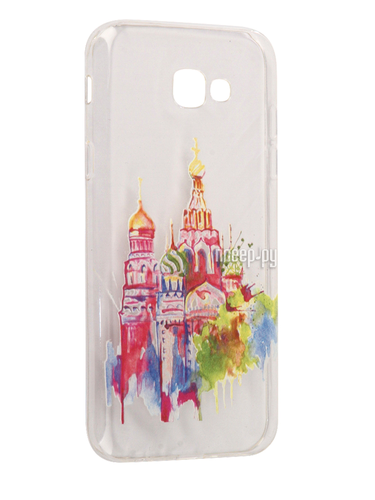 Аксессуар Чехол Samsung Galaxy A7 2017 With Love. Moscow Silicone Russia 5090
