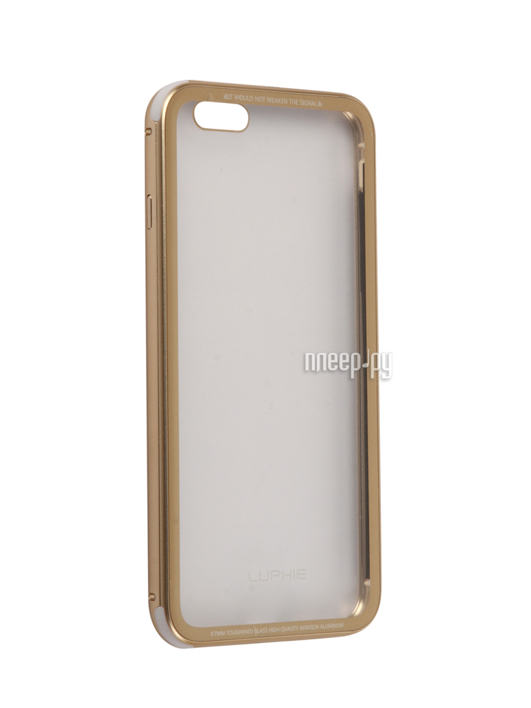 Аксессуар Чехол Luphie для iPhone 6 Plus Toughened Glass Protection Gold PX / LUPH-IPH6P-CATGB-g