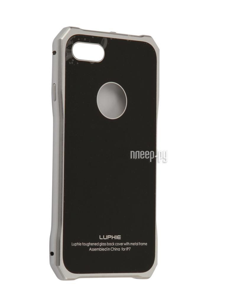 Аксессуар Чехол Luphie для iPhone 7 Toughend Glass Back + Metal Frame Silver-Black PX / LUPH-IPH7-TGBMF-sb