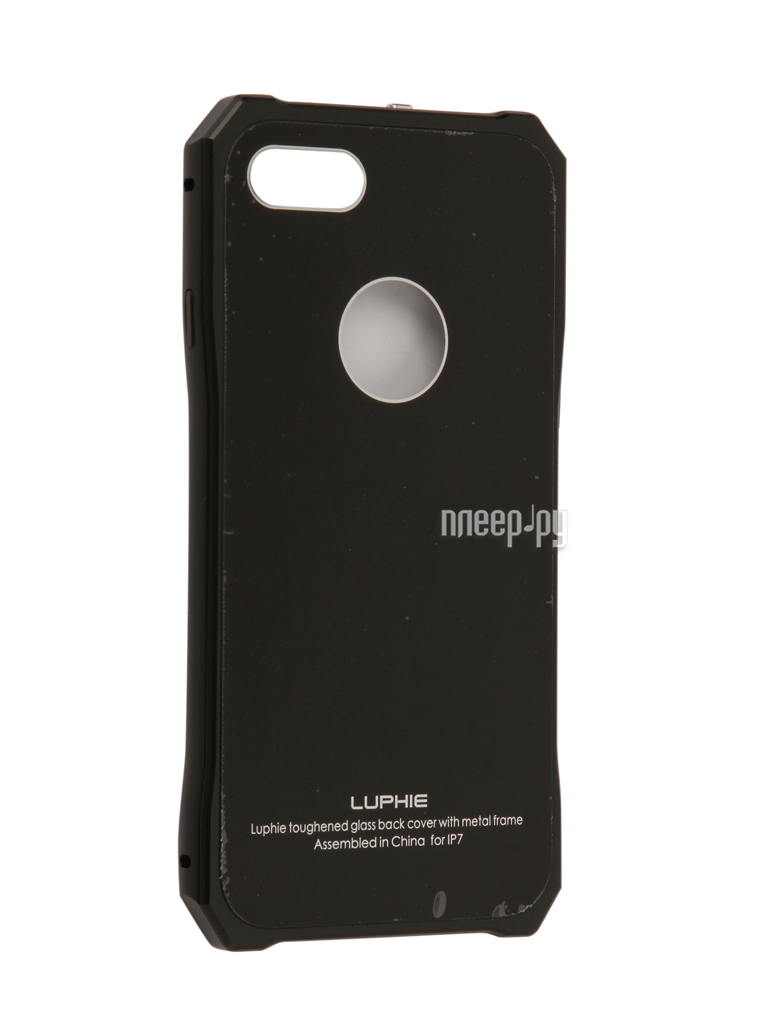 Аксессуар Чехол Luphie для iPhone 7 Toughend Glass Back + Metal Frame Black-Black PX / LUPH-IPH7-TGBMF-bb