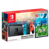 Игровая приставка Nintendo Switch Red-Blue + Legend of Zelda: Breath of the Wild