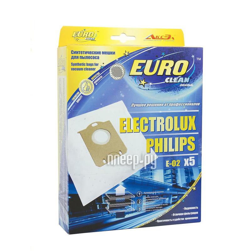Аксессуар EURO Clean E-02 / 5 мешок-пылесборник для Electrolux S-Bag за 230 рублей