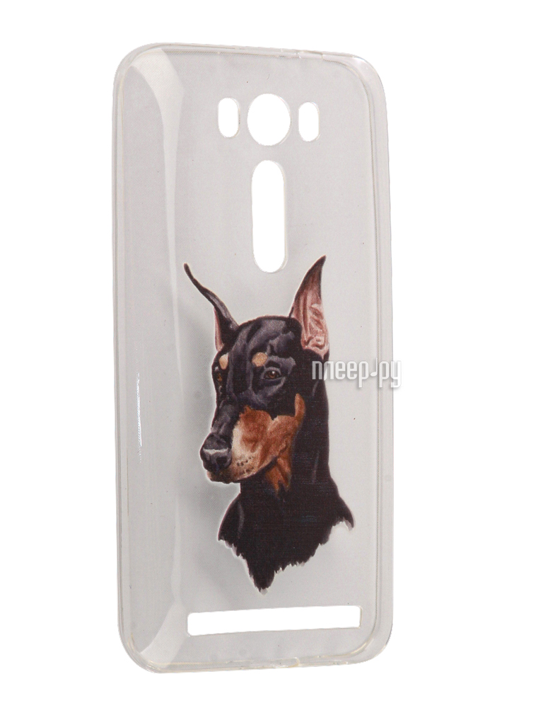 Аксессуар Чехол Asus ZenFone 2 ZE500KL Laser 5.0 With Love. Moscow Silicone Dog 5832